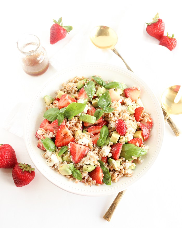 Strawberry Avocado Farro Salad
