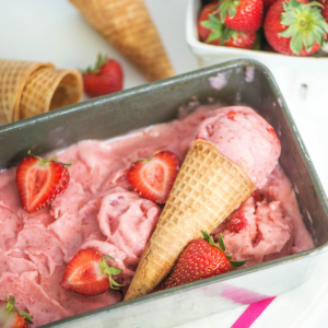 3 Ingredient Strawberry Nice Cream