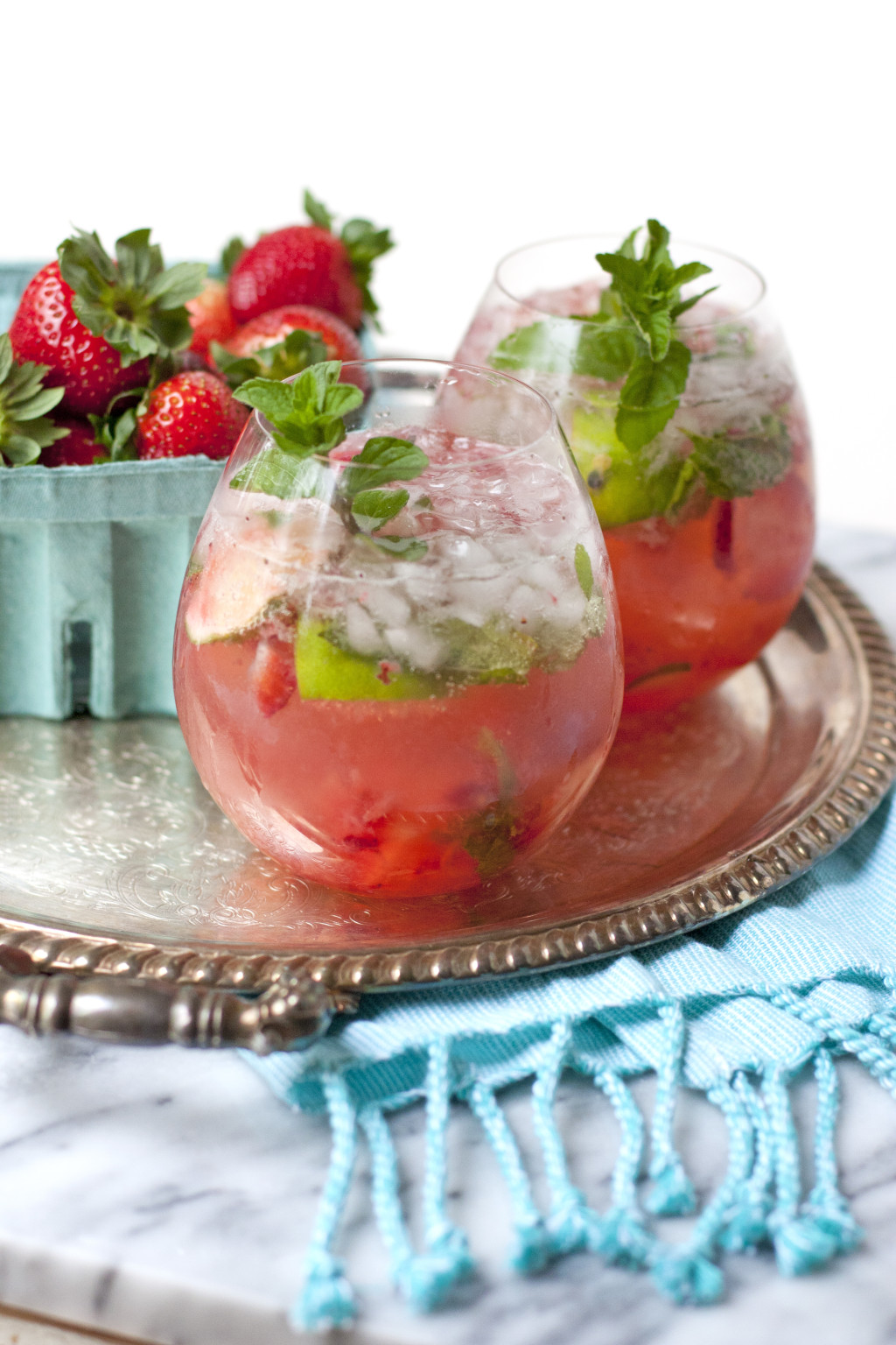 Strawberry and Passion Fruit Caipirinha