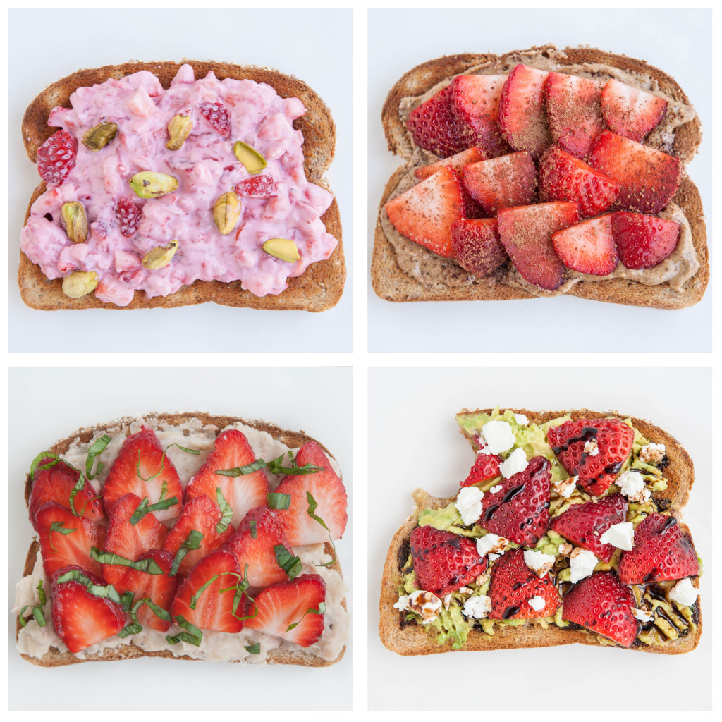 Strawberry Toast 4 ways