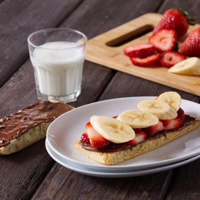 Strawberry + Banana Nutella Panino