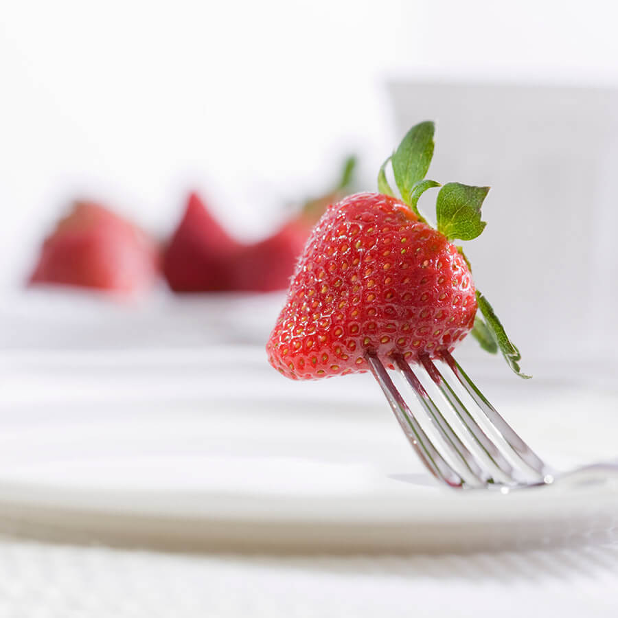 fork in strawberry
