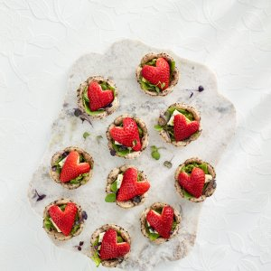 Strawberry Basil Pesto Tartlets